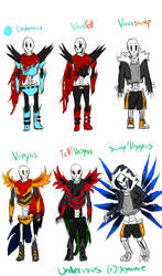 Versions Of Undervirus -Papyrus by Jeyawue