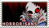 HORROR SANS stamp