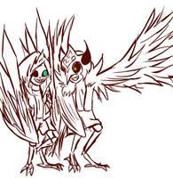 Bird!Xans and Demi!Bird by Jeyawue