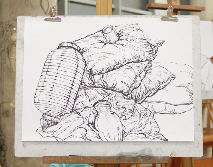 Contour Line Drawing In Art : Continuous contour drawing by missmcmorbid on deviantart