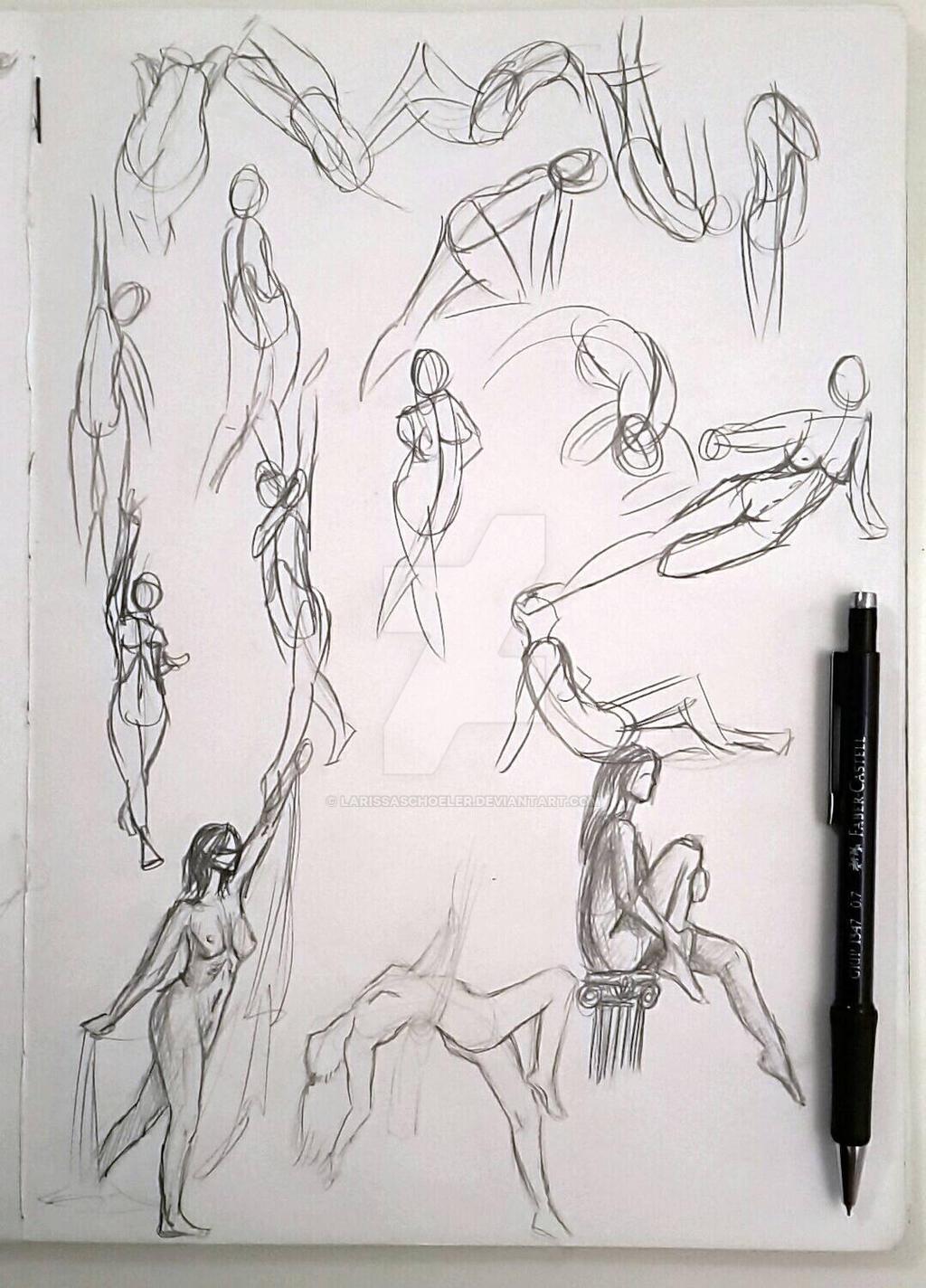 Gesture drawing 30 min
