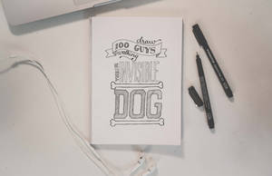 Challenge thing hand lettering