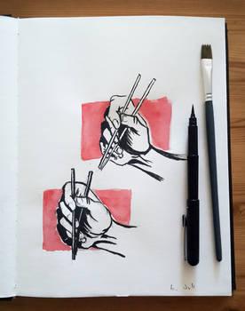 chop stick sketch