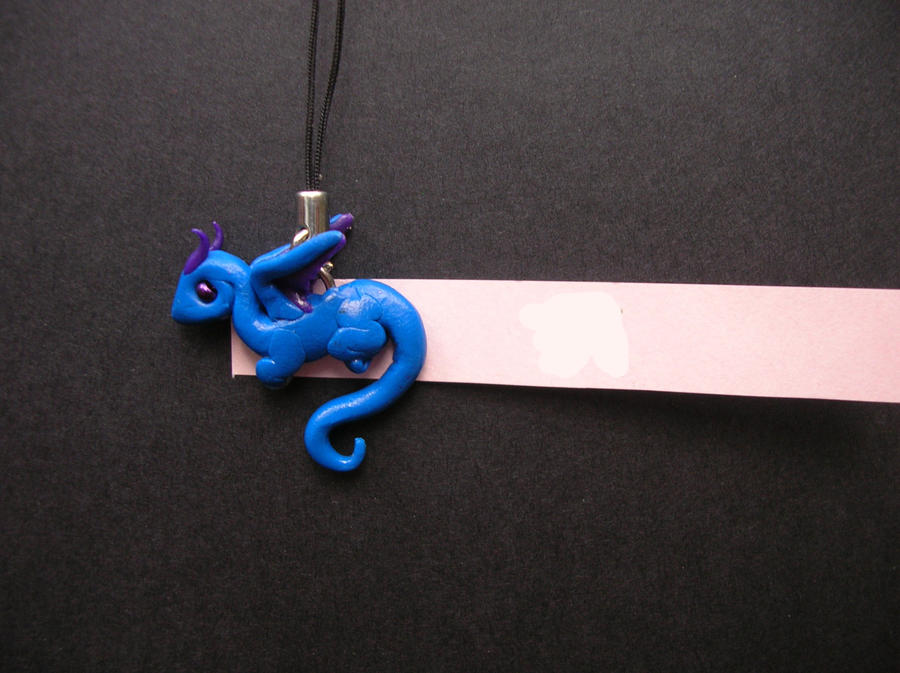 Little Blue - Dragon cellphone charm by Just-an--Illusion