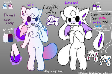 (the void one is outdated) kittydog cruffle ref by kittydogcrystal