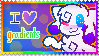 I Love Gradients Stamp by kittydogcrystal