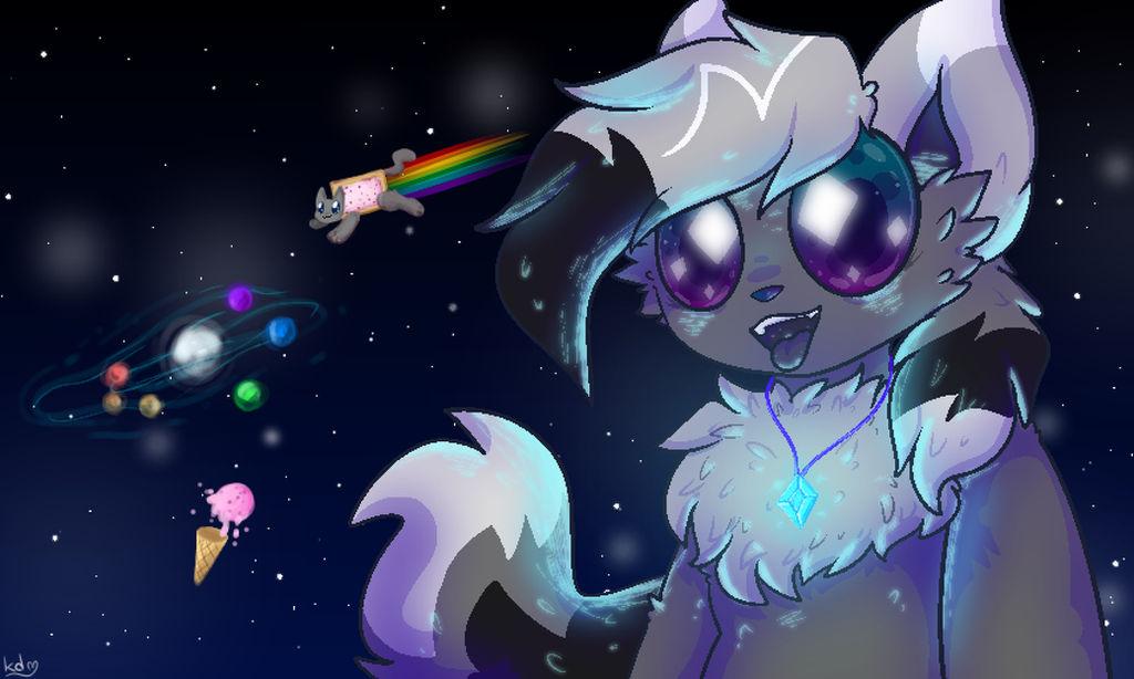 diamond stars (space cat redraw) by kittydogcrystal