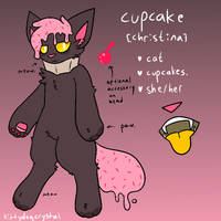cupcake cat ref by kittydogcrystal