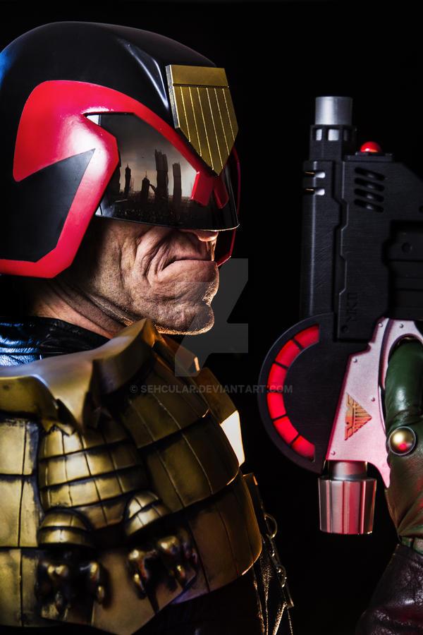 Judge Dredd makeup by Patt Foad by Sehcular