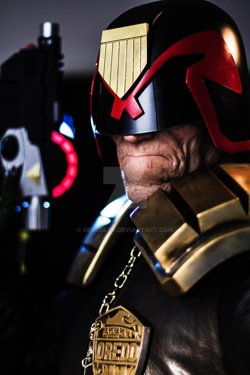 Judge Dredd makeup by Patt Foad by Sehcular