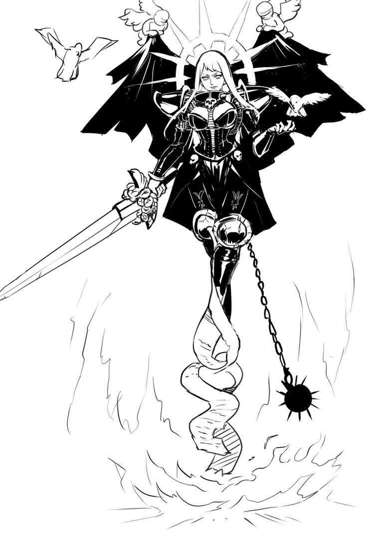 Living Saint of Battle by MikazukiShigure