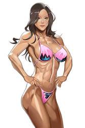 Fitness girl Jessie by MikazukiShigure
