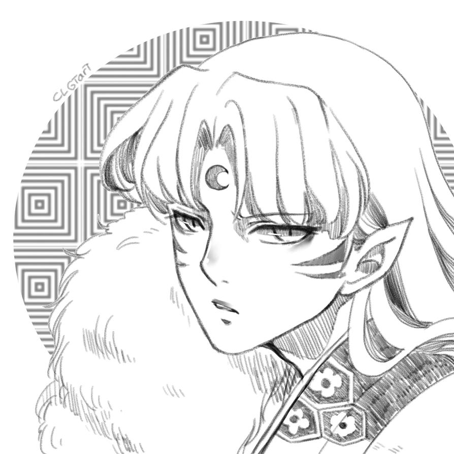 Request: Sesshomaru by clgtart