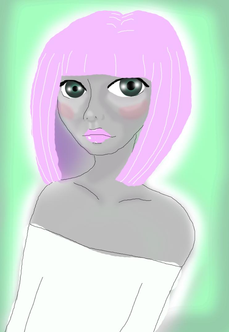 pink hair by DarkAliceDreams