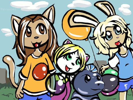 Kilo, Kimmy, Wolfe, and Luna by travisuped