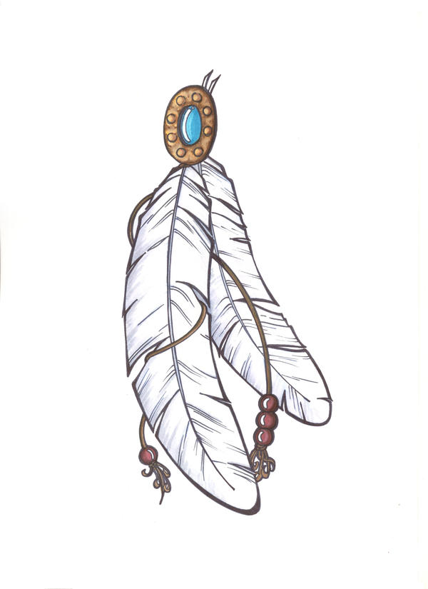 Indian Feather Tattoo Design Picture 4