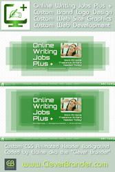 Clever Brander Design For Online Writing Jobs Plus