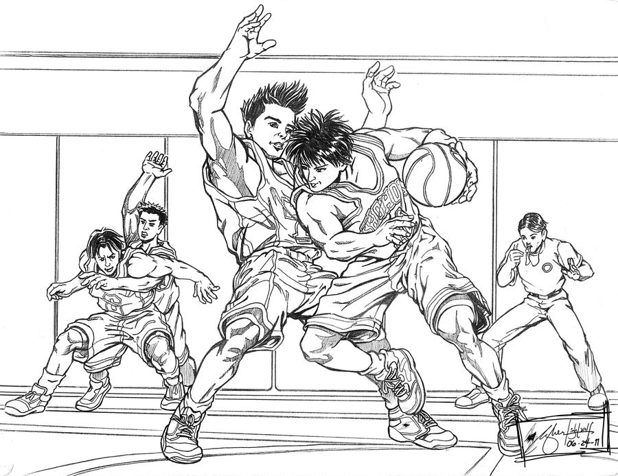 Slam Dunk Sendoh Vs Rukawa Slam Dunk_Rukawa vs, S...