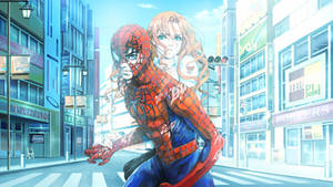 Spider-man and Mary Jane Wallpaper by Franky4FingersX2