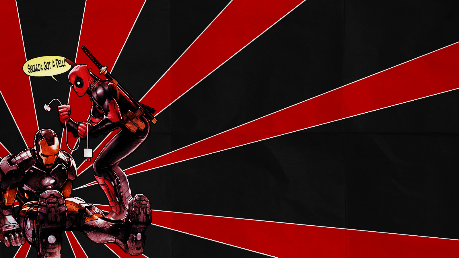 Franky4FingersX2 Ironman And Deadpool Wallpaper Ver2 By