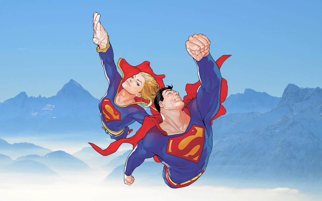 Superman and Supergirl Wallpaper by Franky4FingersX2 on ...