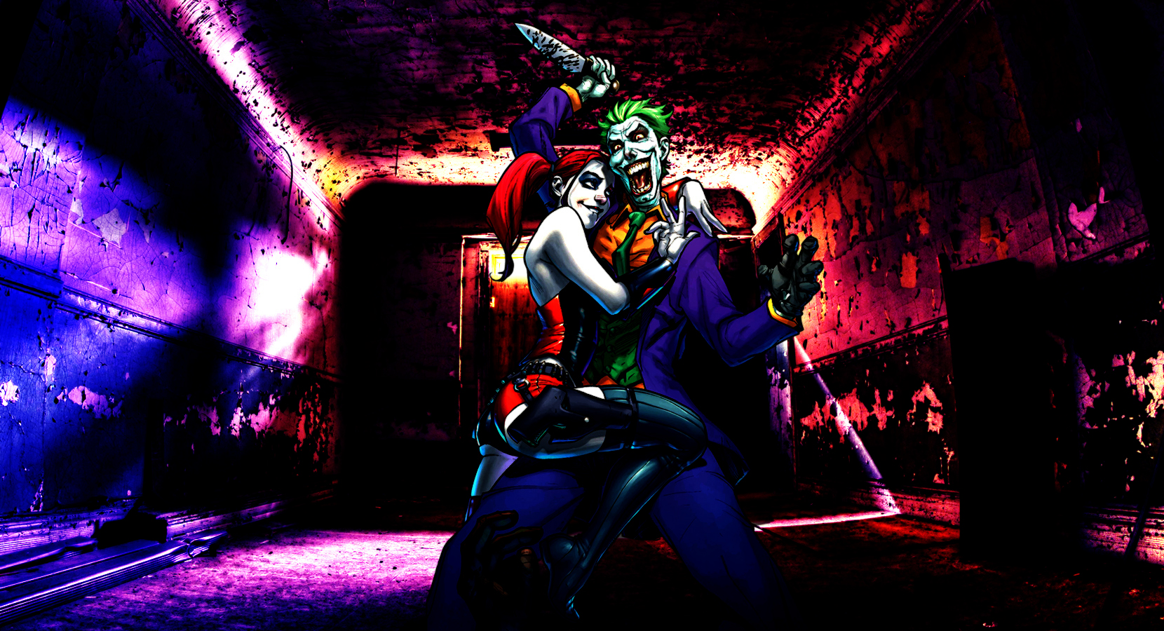 Harley Quinn And Joker Wallpaper By Franky4fingersx2 On