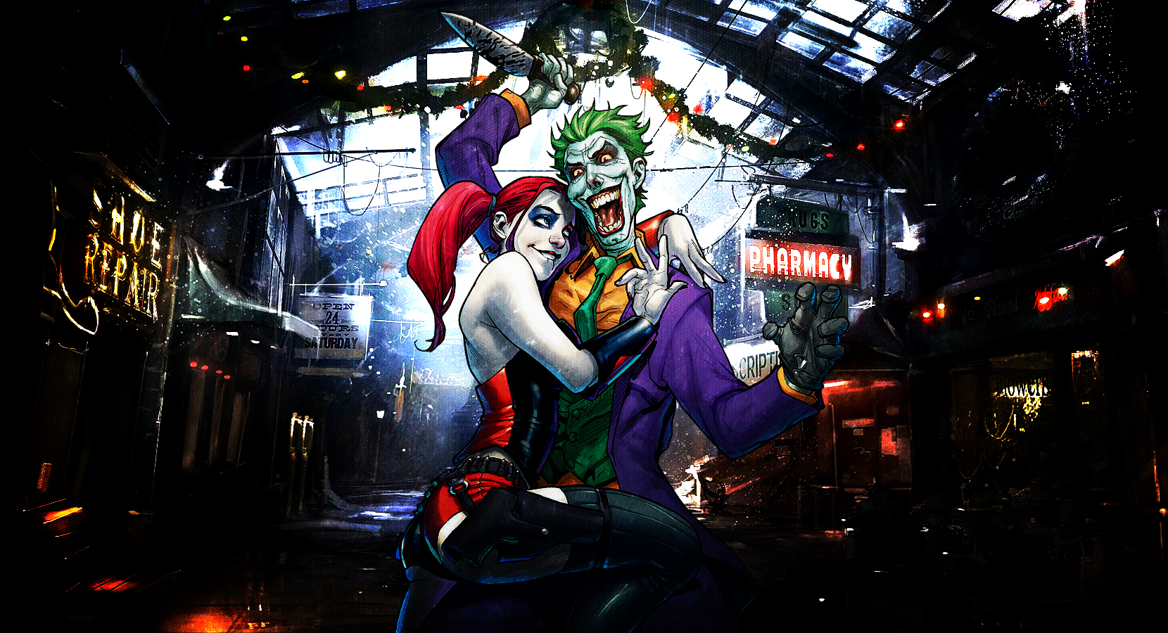 Harley Quinn and Joker Wallpaper VER.2