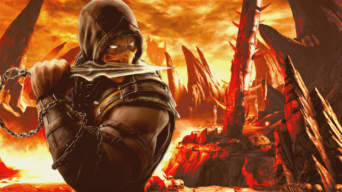 Mortal Kombat Scorpion Wallpaper by Franky4FingersX2 ...