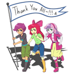 Cutie Mark Crusaders: Thank You All~!