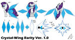 Rarity: Crystal-Wing Ver. 1.0 Reference Sheet