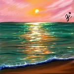 ocean digital painting
