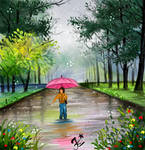 Monsoon digital painting