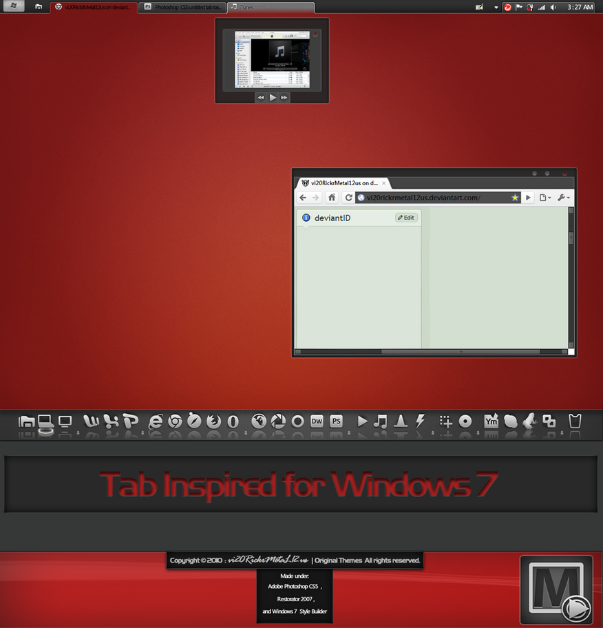 Tab Inspired for Windows 7 by vi20RickrMetal12us