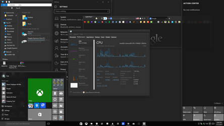 A Messy - Win10 RTM (Work theme) by vi20RickrMetal12us