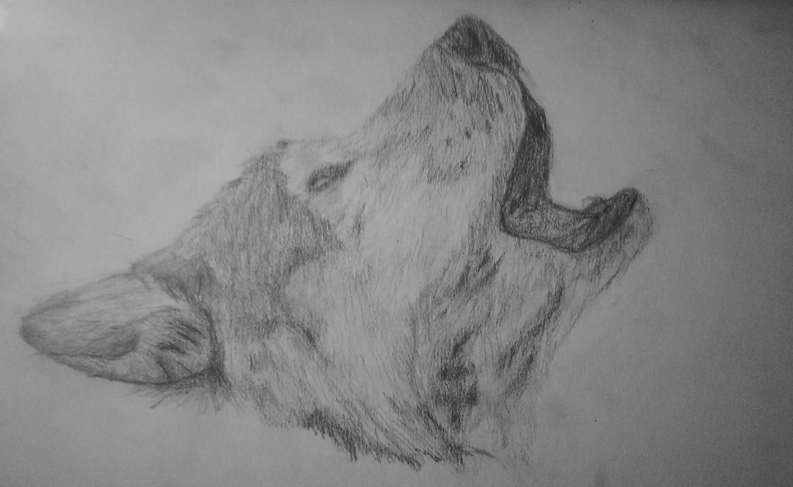 Howling wolf by Sabs546 on DeviantArt