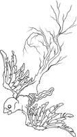 zombie sparrow outline