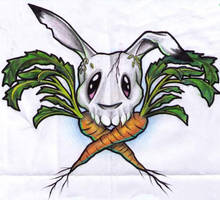 Carrot bunny by needles0101101