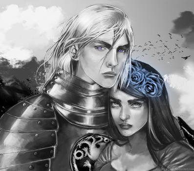 Rhaegar Targaryen and Lyanna Stark by iro-kotori