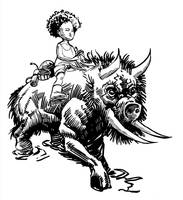 ink - Hushpuppy from Beasts of the Southern Wild