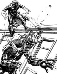 Black Panther vs a Sentinel