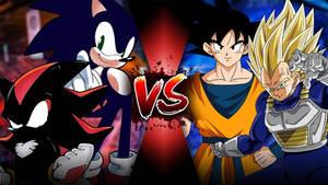 Dark Shadow and Dark Sonic VS Goku and SSJ Vegeta