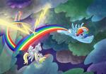 Derpy and Rainbow Dash
