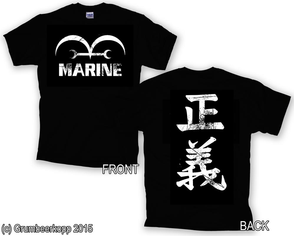 Mone Piece Marine Shirt Used Look (Concept) by Grumbeerkopp