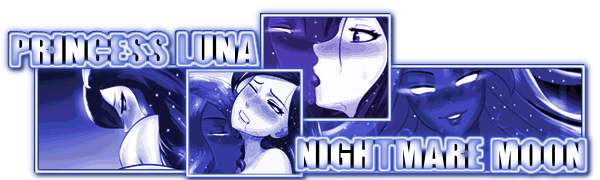 Princess Luna X Nightmare Moon Signature by Grumbeerkopp