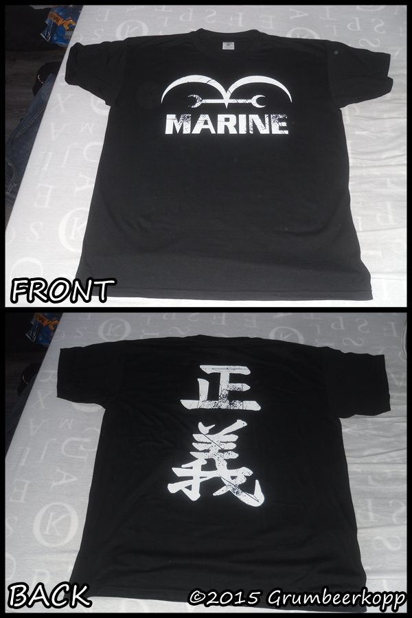 One Piece Marine Black Vintage Look T-Shirt by Grumbeerkopp