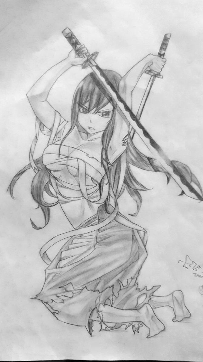 Erza Scarlet-Fairy Tail by AkameZ16