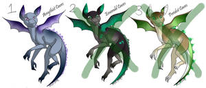 Cute Little Dragon Adopts 2 -OPEN 1/3 LEFT- by xLief-Duivelx