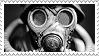 Gas mask stamp 02