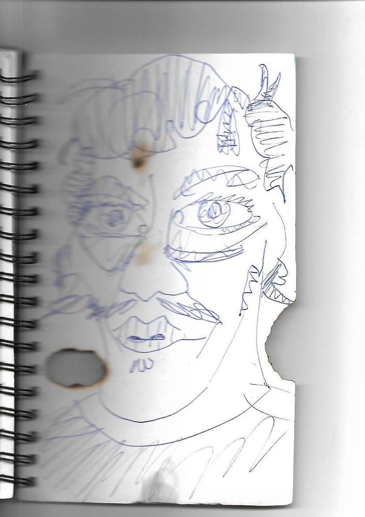 Scorched self-portrait by scarabix