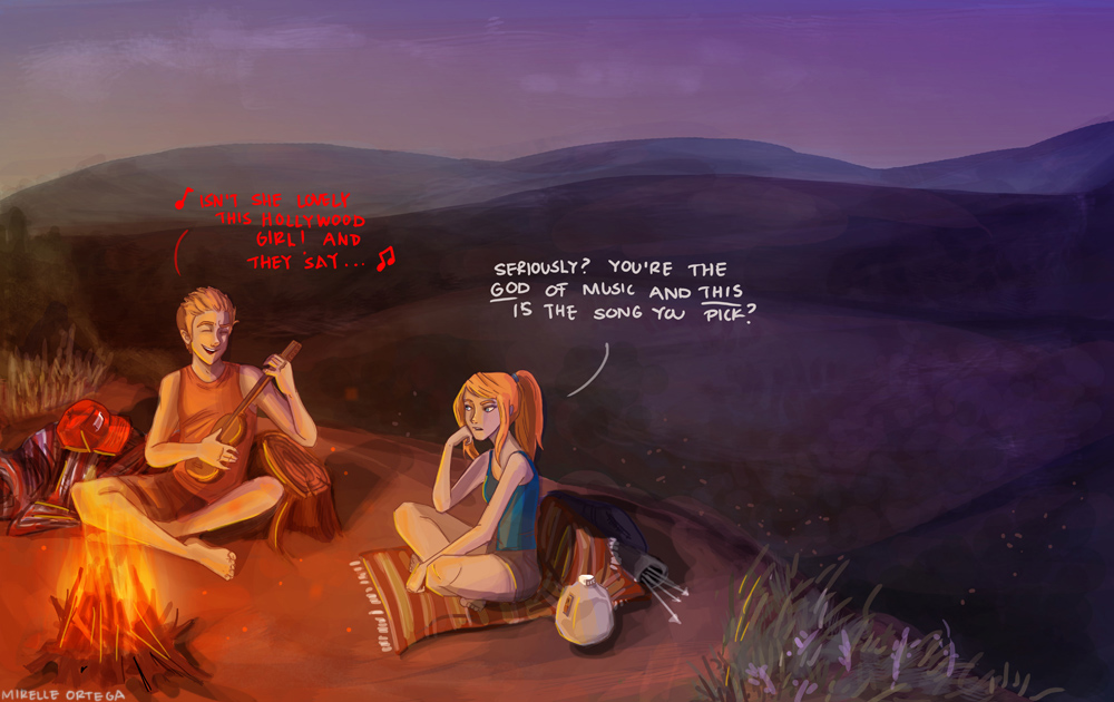 Apollo and Artemis go 'camping' by illustrationrookie on ...